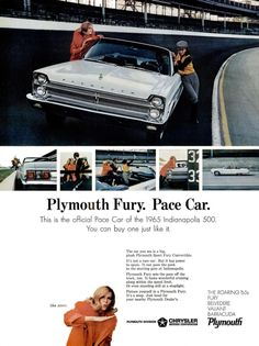 1965 Advertisement for Plymouth Fury