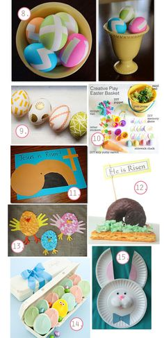 The Busy Budgeting Mama: DIY Easter Ideas - Kid Activities, Basket & Eggs Inspiration Board