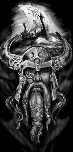 Not my work, just a super cool image found here on Pintrest. Tatto Viking, Viking Warrior Tattoos, Viking Tattoo Sleeve, Norse Tattoo, Full Sleeve Tattoos, Viking Tattoo Design, Schulterpanzer Tattoo, 3d Tattoos, Samoan Tattoo