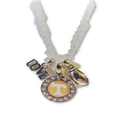 Offically Licensed Tennessee Football Charm Necklace