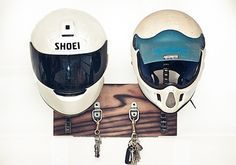 His and Hers. LOVE this!! Aka NEED it!!! Vroom vroom ✊  Helmets, keys and coats. Genius!!!!