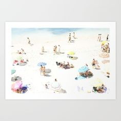 Buy beach Art Print by Ingrid Beddoes. Worldwide shipping available at Society6.com. Just one of millions of high quality products available.