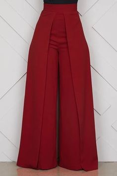 """"" Chic High Waist Zipper Palazzo Pants for Women Casual Loose Wide Leg Pants Ladies Elegant Long Culottes Trousers Pantalon Femme """" Chic High Waist Zipper Palazzo Pants for Women Casual Loose Wide Leg P – geekbuyig """" Stylish Dress Designs, Stylish Dresses, Fashion Pants, Fashion Outfits, Emo Fashion, Fashion Women, Gothic Fashion, Hijab Stile, Latest African Fashion Dresses"