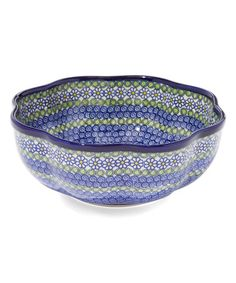 Look what I found on #zulily! Blue Daisy Scallop-Shaped Fala Bowl #zulilyfinds
