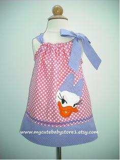 Cute Daisy Duck Pillowcase Dress by mycutebabystore1 on Etsy, $28.50