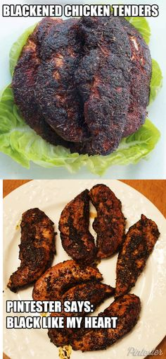"Making anything ""blackened"" in the Pintester kitchen means strife, heartache, and the opposite of marital bliss."