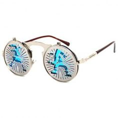 d806552c68c New Brand Sun Glasses Steam Punk Gothic Sunglasses Vintage Clamshell ...