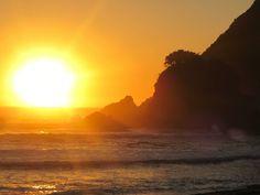 Atardecer. Manquemapu, Sur de Chile