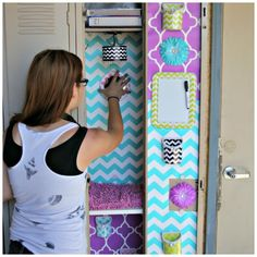 world's cutest locker with lockerlookz - premade to fit your locker and all reusable, magnetic and non-damaging #LLZgirlz