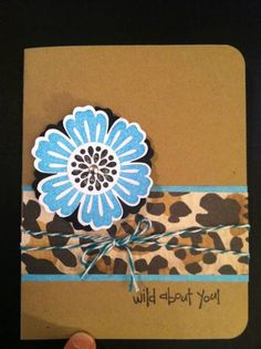 Stampin Up - Mixed Bunch - like the added twine!