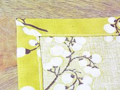 How To: Sew Napkins —with only 1 piece of fabric instead of 2.