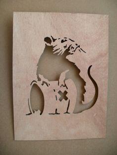 Banksy Toxic Rat  Wooden Stencil by existencil on Etsy