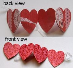An Accordion Scrapbook or Card Your Valentine Will Love: Attaching the Front and Back Covers