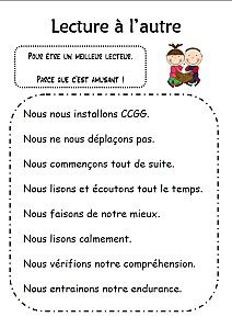 tableau lecture à l'autre Daily 5 Reading, Guided Reading, Teaching Reading, Teaching Ideas, Read In French, French Practice, Daily Five, French Education, Teachers Corner