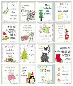 10 calendriers de l'avent originaux et gratuits, à télécharger! Christmas Baubles, Diy Christmas Gifts, Christmas Humor, Little Christmas, Christmas Time, Xmas, Reindeer Craft, Preschool Christmas, Student Gifts
