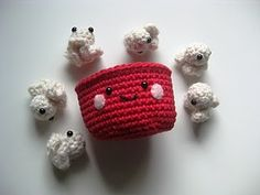popcorn amigurumi - @Heather Creswell - LOVE this!!! Want bad!!!! How much $$$