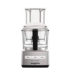 Magimix Compact 5200 XL Chrome 1100 Watt Food Processor with Recipe Book Lausanne, Mousse, Juice Extractor, Blender, Egg Whisk, Specialty Appliances, Cooking Equipment, Freshly Baked, Milkshake