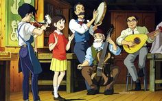 "When everyone was playing ""Country Rode"" with the Japanese lyrics. -- Studio Ghibli movies, Japanese films, Whisper of the Heart, moments, scenes"