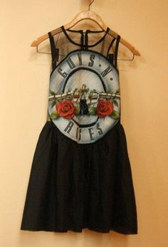 I found 'Guns 'n' roses black vintage grunge dress'. I love gunsnroses! and it looks so cute on a dress want it.