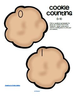 ***FREE*** Center - count chocolate chips onto cookies 0-10. Large pieces for small hands. 5 pages.