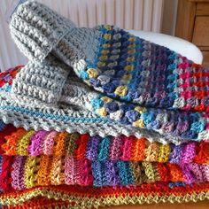 idea for hot water bottle cover (Attic 24 granny poncho)
