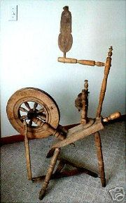 Antique Saxonian Style Spinning Wheels