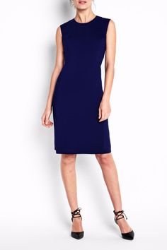 This chic wardrobe staple is the ultimate elevated basic for every woman's wardrobe. The classic crew neck and sophisticated knee length make the Bedford Dress easy to wear on it's own pair with any blazer shape. The slim silhouette is cut from stretch fabric and features figure-flattering angled seams   Bedford Dress by Of Mercer. Clothing - Dresses - Knee Clothing - Dresses - Work New York City