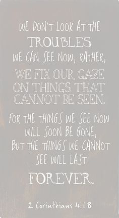 Daughter of Delight    We fix our gaze on things that cannot be seen   2 Corinthians 4:18 #shedelights