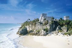 Mayan Riveria, Mexico.   Tulum ruins. Absolutely beautiful!!