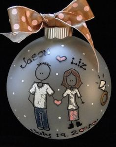 CHRISTMAS ORNAMENT FOR ENGAGED COUPLE