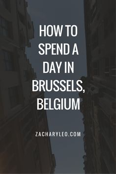How to Spend a Day in Brussels, Belgium - ZacharyLeo.com - After a long while of not traveling anywhere internationally, I was lucky enough to pick up a trip that put me in the capital of Belgium. Brussels is a beautiful and humble city full of intricate architecture, beautiful views and most importantly, delicious food.