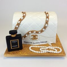 Gallery - Custom Cake Toppers - Cake in Cup NY Bolo Chanel, Chanel Cake, Chanel Party, Chanel Birthday Cake, 14th Birthday Cakes, Fancy Cakes, Cute Cakes, Diva Cakes, Bottle Cake