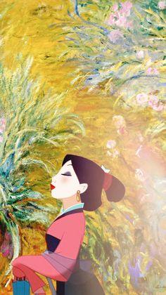 Mulan + Monet - Art by annabjorgmans.tumblr.com
