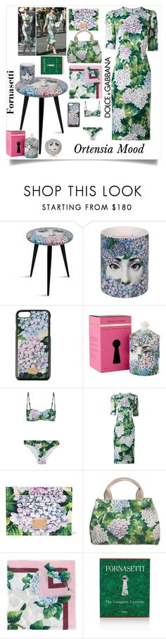 """#190 Fornasetti's vs Dolce&Gabbana's Ortensias"" by lacri50enniblog ❤ liked on Polyvore featuring Fornasetti, Dolce&Gabbana and Rizzoli Publishing"