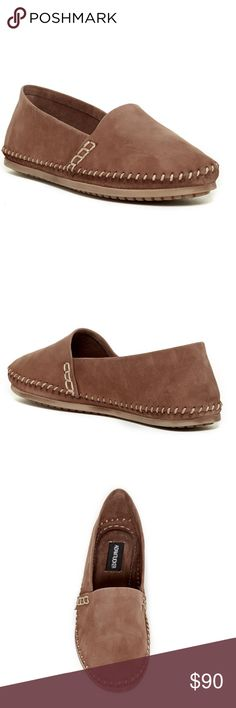 NEW Adam Tucker Sangria Leather Flats New and never worn. SOLD OUT EVERYWHERE. Round toe, whip stitch detail, slip-on, soft leather upper, rubber sole. Super comfy. No longer have original box. Adam Tucker Shoes Flats & Loafers