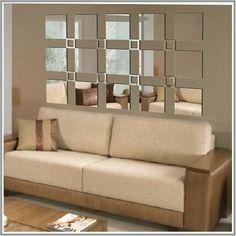 espelho decorativo acrílico 1,90x1,10m quadrados sala quarto