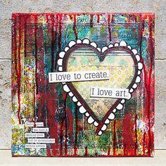 Beautiful Heart Journal  #heart #art