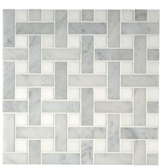 "Aqualinea 7/8"" x 2 7/8"" Basketweave Mosaic — Products | Waterworks"