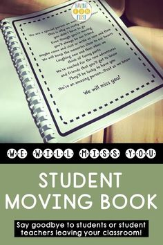 If you have a student that's moving soon or a student teacher is finishing up in your classroom, this print & go student moving book is the perfect way to say goodbye! With editable book covers, letter writing templates, picture pages & more, the student goodbye book allows each student to get a chance to say goodbye. See the previews and what other teachers are saying and grab yours now! Letter Writing Template, Letter Templates, 4th Grade Activities, Teacher Must Haves, Pen Pal Letters, Handwriting Practice, Student Teacher, New Students, Writing Resources