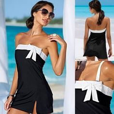 One Piece Swimsuit Sexy Cover-Ups  Beach Dress