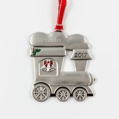 2017 Train Ornament - Celebrate the 2017 festive season with this train tree ornament. Choo! Choo! This ornament already has the year (2017) printed on the front. It makes a great gift!