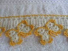 Crochet World February 2019 - Louisa Crochet Edging Patterns, Potholder Patterns, Crochet Lace Edging, Crochet Borders, Applique Patterns, Crochet Trim, Filet Crochet, Cute Crochet, Beautiful Crochet