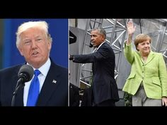President Trump Gives Nasty Surprise To Obama and Merkel After They Tried to Embarrass Him In German - YouTube