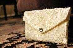 Alencon Lace Bridal Clutch Purse by GlorybyJeannieLee on Etsy $55.00