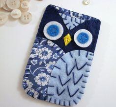Felt Owl Ipod Iphone Case Cozy Blackberry Camera by lovahandmade, $22.00