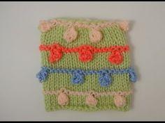 Cómo tejer burbujas con dos agujas / Tutorial  | Crochet y Dos agujas - Patrones de tejido