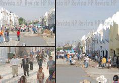 Fotografía del 28 de julio de 2011. Trabajando a marchas forzadas para tener lista la Calzada Dr. Samuel Joaquín Flores.