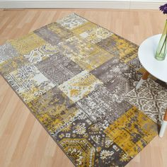 Revive rugs in ochre buy online from the rug seller uk Carpets Online, Carpet Sale, Rugs On Carpet, Carpets For Kids, Jewelers Near Me, Cheap Carpet Runners, Patchwork Designs, Carpet Stairs