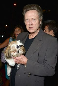 Famous people (Christopher Walken) + Famous Dogs (Bonny)