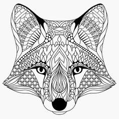 kleurplaat vos